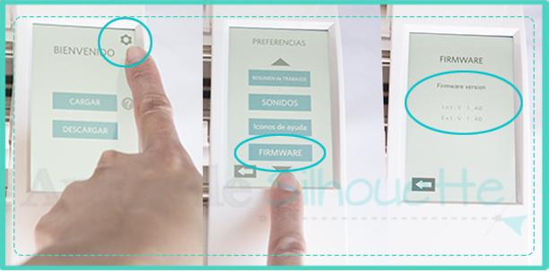 como atualizar o firmware da silhouette