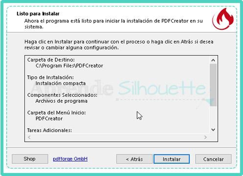 Verificar los detalles de instalacion de la Impresora PDF