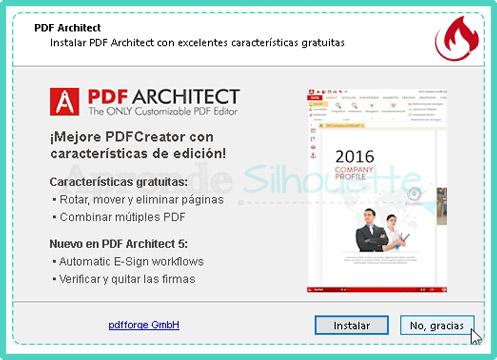Instalacion Opcional de PDF ARCHITECT