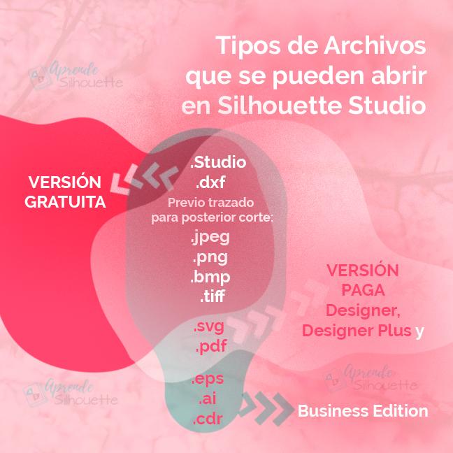 tipos de archivo silhouette studio